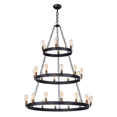 Harpa 30-Light Candle-Style Chandelier Bulb Type: MB