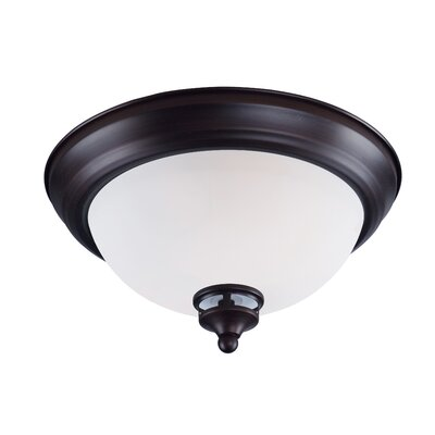 Smyrna 1-Light Flush Mount Finish: Oil Rubbed Bronze