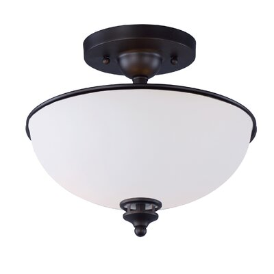 Smyrna 2-Light Semi Flush Mount Finish: Oil Rubbed Bronze