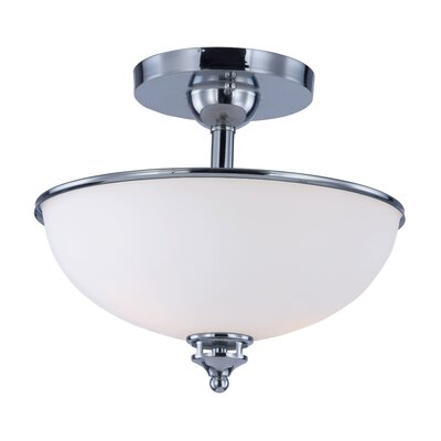 Smyrna 2-Light Semi Flush Mount Finish: Polished Chrome