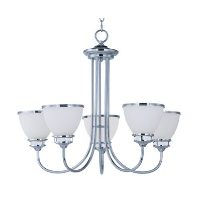 Smyrna 5-Light Shaded Chandelier Finish: Polished Chrome