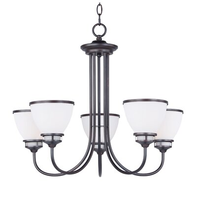 Smyrna 5-Light Shaded Chandelier Finish: Oil Rubbed Bronze