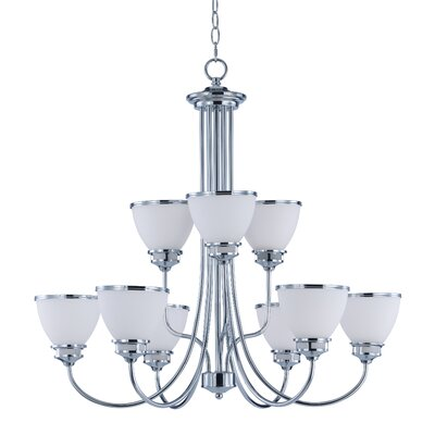 Smyrna 9-Light Shaded Chandelier Finish: Polished Chrome