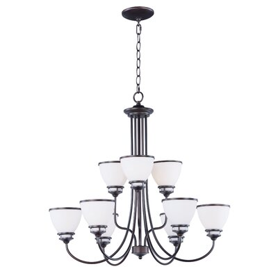 Smyrna 9-Light Shaded Chandelier Finish: Oil Rubbed Bronze
