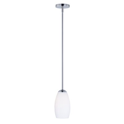 Caves 1-Light Mini Pendant Finish: Satin Nickel