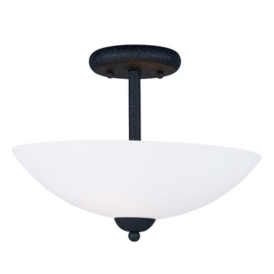 Caves 2-Light Semi Flush Mount Finish: Textured Black