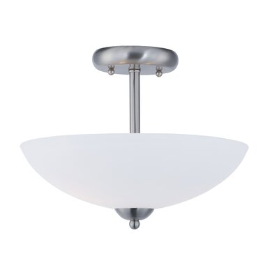 Caves 2-Light Semi Flush Mount Finish: Satin Nickel