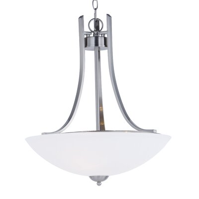 Caves 3-Light Bowl Pendant Finish: Satin Nickel