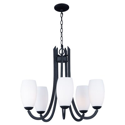 Caves 5-Light Shaded Chandelier Finish: Textured Black