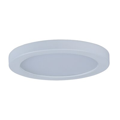Adamsburg 1-Light LED Flush Mount Fixture Finish: White, Size: 1.5 H x 5 W x 5 D