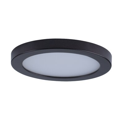 Adamsburg LED 1-Light Glass Flush Mount Finish: Bronze, Size: 1.5 H x 5 W x 5 D