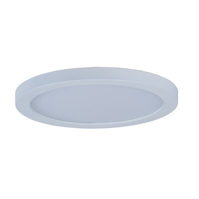 Adamsburg 1-Light LED Flush Mount Fixture Finish: White, Size: 1.5 H x 7 W x 7 D