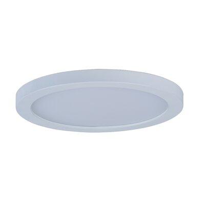 Adamsburg LED 1-Light Glass Flush Mount Finish: White, Size: 1.5 H x 7 W x 7 D