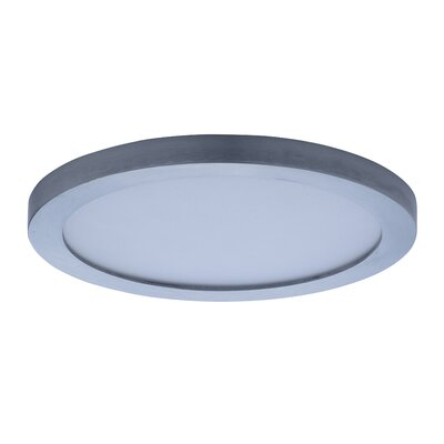 Adamsburg LED 1-Light Glass Flush Mount Finish: Satin Nickel, Size: 1.5 H x 7 W x 7 D