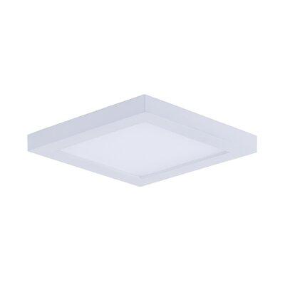 Adamsburg LED 1-Light Flush Mount Finish: White, Size: 1.5 H x 4.5 W x 4.5 D