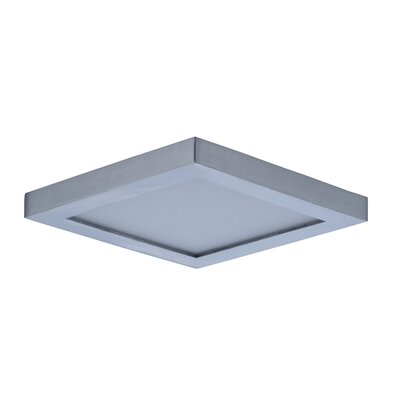 Adamsburg 1-Light LED Flush Mount Fixture Finish: Satin Nickel, Size: 1.5 H x 4.5 W x 4.5 D