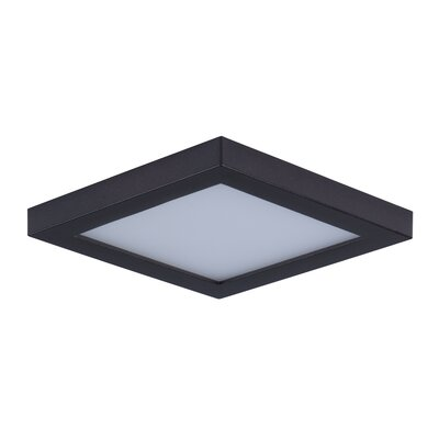Adamsburg 1-Light LED Flush Mount Fixture Finish: Bronze, Size: 1.5 H x 4.5 W x 4.5 D