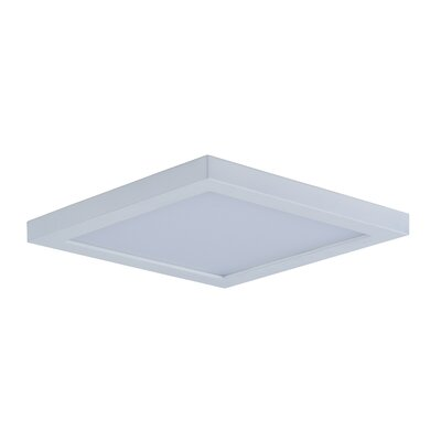 Adamsburg LED 1-Light Flush Mount Finish: White, Size: 1.5 H x 6.25 W x 6.25 D