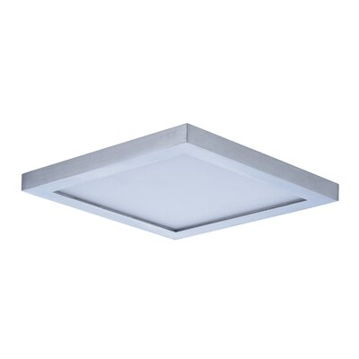 Adamsburg LED 1-Light Flush Mount Finish: Satin Nickel, Size: 1.5 H x 6.25 W x 6.25 D