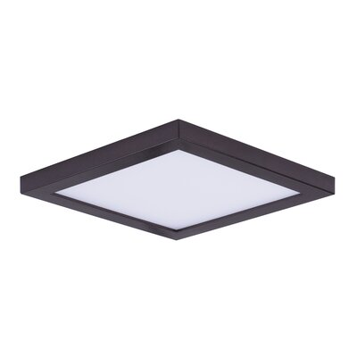 Adamsburg 1-Light LED Flush Mount Fixture Finish: Bronze, Size: 1.5 H x 6.25 W x 6.25 D