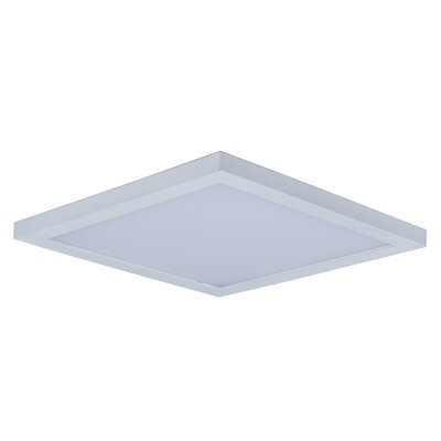 Adamsburg LED 1-Light Flush Mount Finish: White, Size: 1.5 H x 9 W x 9 D