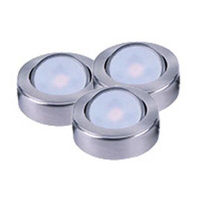 CounterMax LED Under Cabinet Puck Light Finish: Satin Nickel