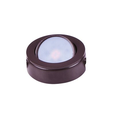 CounterMax LED Under Cabinet Puck Light Finish: Anodized Bronze