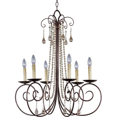 Adriana 6-Light Candle-Style Chandelier