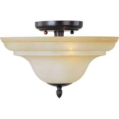 South Bend 2-Light Semi Flush Mount