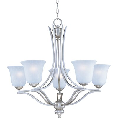 Mansfield Modern 5-Light Shaded Chandelier Finish: Sand Stone