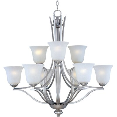 Mansfield 9-Light Shaded Chandelier Finish: Sand Stone