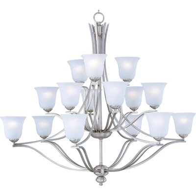 Madera 15-Light Shaded Chandelier Finish: Sand Stone