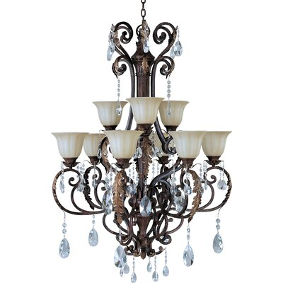 Morrison 9-Light Shaded Chandelier