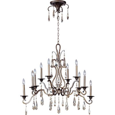 Chic 10-Light Candle-Style Chandelier