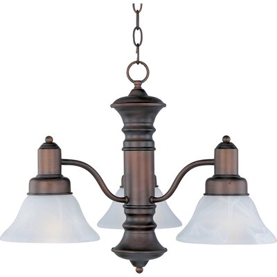 Newburg 3-Light Pendant Finish: Oil Rubbed Bronzewith Marble Shade