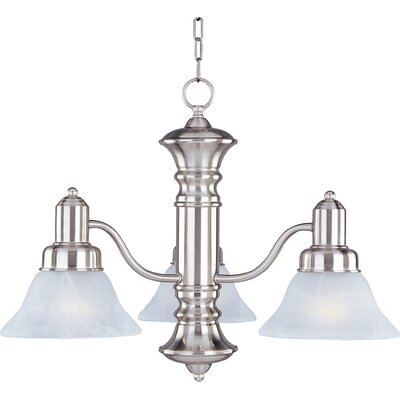 Harrold 3-Light Pendant Finish: Satin Nickel with Marble Shade