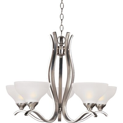 Thelemann 5-Light Shaded Chandelier Finish: Satin Nickel