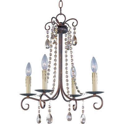 Pancras Contemporary 4-Light Candle-Style Chandelier