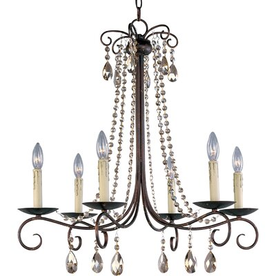 Adriana 6-Light Crystal Chandelier