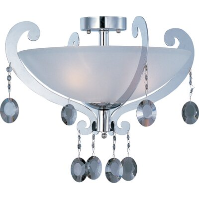 Cyclone 3-Light Semi-Flush Mount