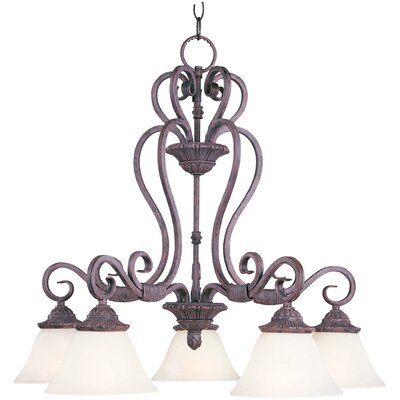 Deva 5-Light Shaded Chandelier