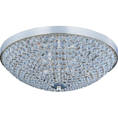 Glimmer 9-Light Flush Mount Finish: Plated Silver