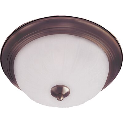 Essentials 1-Light Flush Mount Finish: Satin Nickel, Size: 6 H x 12 W