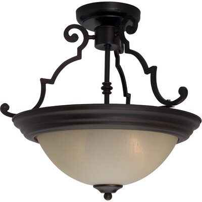 Tennant 2-Light Bowl Pendant Finish: Oil Rubbed Bronze, Shade Color: Wilshire