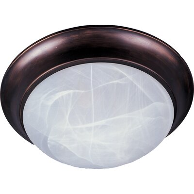 Marblehead 1-Light Flush Mount Finish: Oil Rubbed Bronze, Size: 4 H x 12 W x 12 D