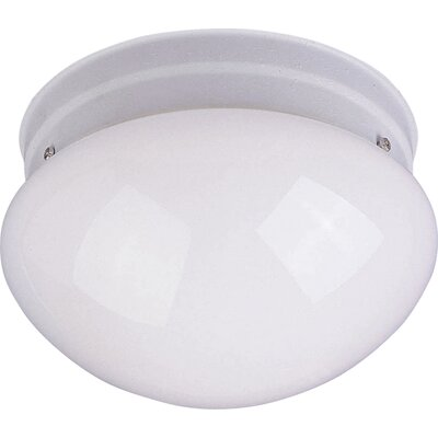 Campfield 1-Light Flush Mount Finish: White