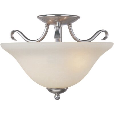 Basix EE 2-Light Semi-Flush Mount Finish: Satin Nickel