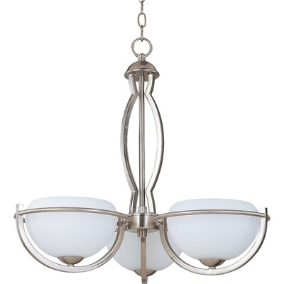 Cupola 3-Light Shaded Chandelier Size: Large