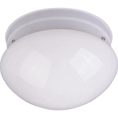 1-Light Flush Mount Size: 5 H x 8 W