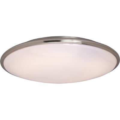 Burrigan 2-Light Flush Mount Finish: Satin Nickel, Size: 3 H x 17 W x 17 D